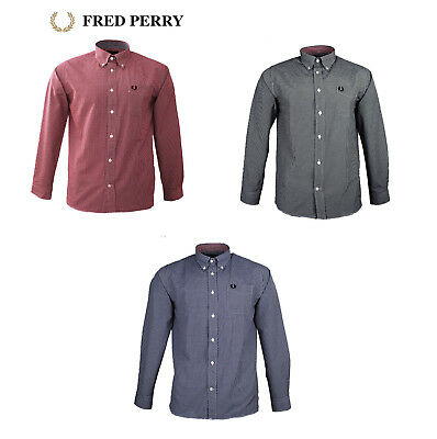 FRED PERRY Hemd Shirt Langarm Classic Fit