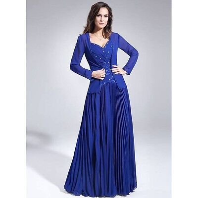 New Woman ladies A-line Mother of the Bride Dress Grape Custom made 14 16