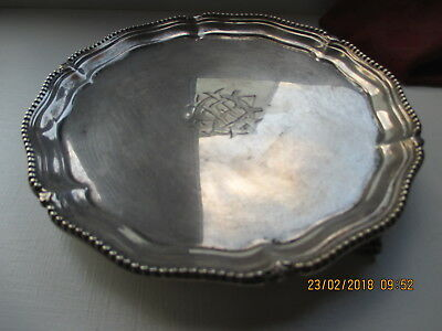 Lovely Solid Silver Salver, Sheffield 1898  181 Grams 5.83 Oz