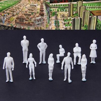10Pcs 1:50 Scale Model Miniature Figures Human Model Architectural Model White