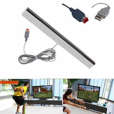 Wired Infrared IR Signal Ray Sensor Bar/Receiver & Stand for Nintendo Wii Remote