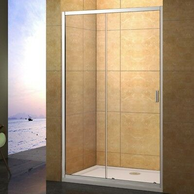 1200x700mm Sliding Shower Enclosure Tempered Glass Screen Door  Tray Waste