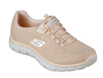 9e88a86d4f70 SKECHERS 12811 Women s Relaxed Fit Empire Spring Glow Casual Trainer PEACH