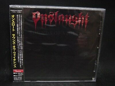 ONSLAUGHT Sounds Of Violence + 3 JAPAN CD The Sanity Days Mirror Mirror Thrash