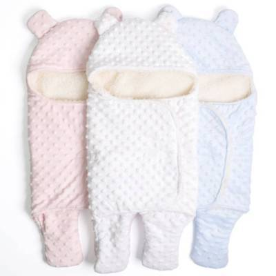 Cotton Newborn Wrap Sleeping Bags Blanket Soft Warm Swaddle Baby Infant W