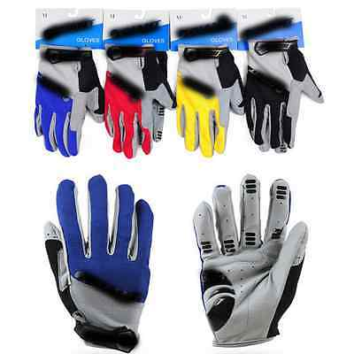 Motorcycle Motorbike Full Finger Gloves Dirt Bike ATV Gel Silicone Touch Screen