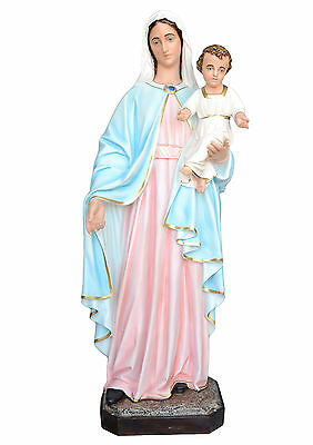 Mary an Baby fiberglass statue cm. 170 with glass eyes