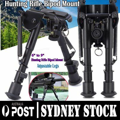 "Adjustable 6"" to 9"" Height Sniper Hunting Rifle Bipod Sling Swivel Mount ON"