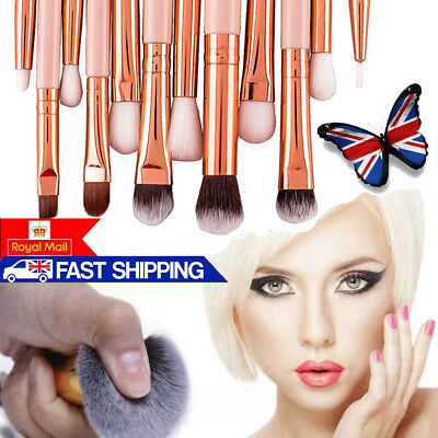 12pcs Make up Brushes Set Foundation Eyeshadow Eyeliner Powder Kabuki Style UK