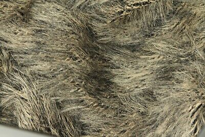 MOHAIR FUR FABRIC BROWN 18MM SOFT Dolls Fire Retardant Superior Quality Crafts