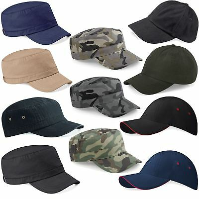 Beechfield Low Profile Mens Camouflage Army Hat Camo Urban Military Sports Cap