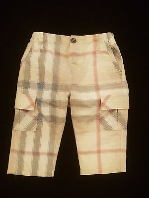 Burberry Designer Baby Boy Check pants Size 6months in excellent condition