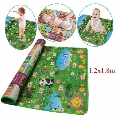 1.2x1.8m Waterproof Baby Crawl Play Mat Kids Foam Puzzle Blanket Game Picnic Rug
