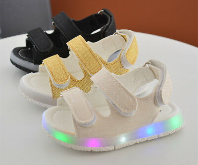 New Summer Toddler LED Lights Sandals Baby Boys Girls Beach Shoes Non-slip Sole