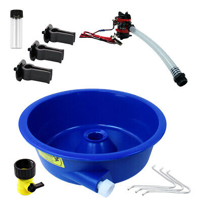 Blue Bowl Concentrator Kit with Pump, Leg Levelers, Vial Gold Mining Equipment