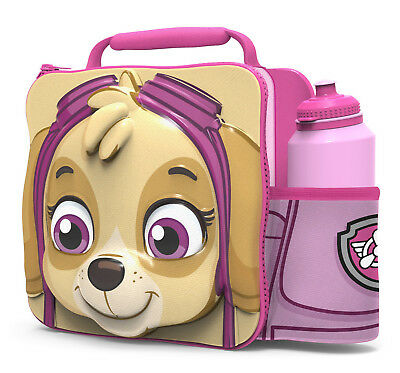 3D Paw Patrol Skye Lunch Bag with Bottle Kids Childrens Insulated Food Drink