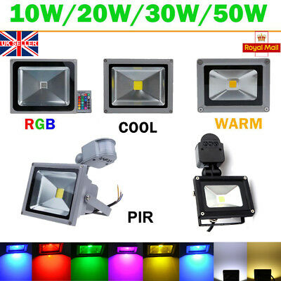 LED Floodlight 10W 20W 30W 50W COB PIR Motion Security Outdoor Flood Light IP65