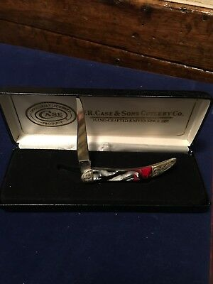 Vintage Case XX USA No. 910096 Pocket Knife Nice Scrolling. Mint In Box