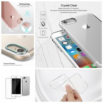 Phone Case Cover Soft TPU Transparent With Anti-Dust Plug for IPhone 7/ 7 Plus