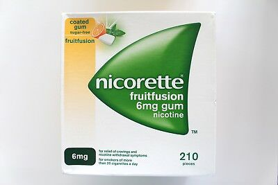 Nicorette Fruitfusion 6mg Medicated Sugar-Free Coated Chewing Gum - 210 Pieces