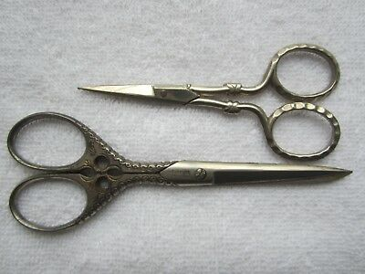Vtg GERMAN EMBROIDERY SCISSORS Sewing Tools GERMANY 2 LOT Tell River Cutlery Co.