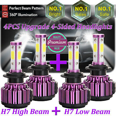 H7+H7 LED Headlight Kit Bulb 1800W H-L Beam For Hyundai Santa Fe Sonata Veloster