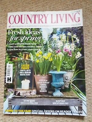 COUNTRY LIVING MAGAZINE APRIL 2018 in excellent condition