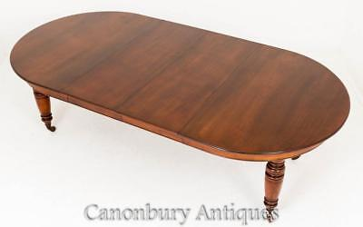 Antique Victorian Dining Table - Extending Mahogany Tables 1880