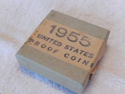 1955 United States Silver Proof Set/in Original-Opened Mint Box/rare/excellent