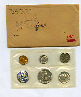 1962 Silver US Mint Proof Set in Original Mint Envelope With Writing on Envelope