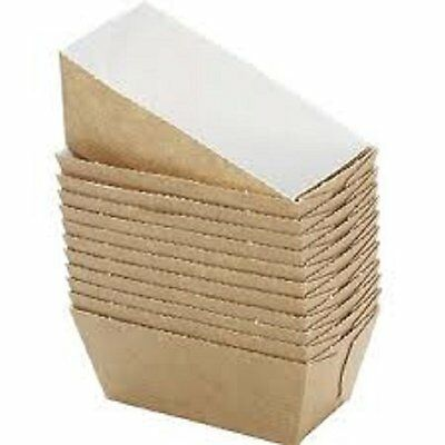 Bakery Direct 25 Mini Loaf Card Bake-In Disposable Paper Moulds
