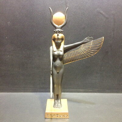 "9.5"" Goddess Isis Winged Egyptian Sculpture Ancient Egypt Statue Figure Figurine"