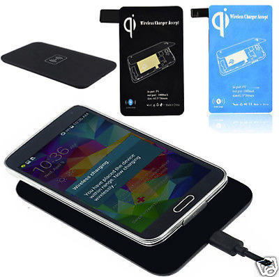 Qi Wireless Charger Charging Pad   Receiver Tag Kit For Samsung Galaxy S5 i9600