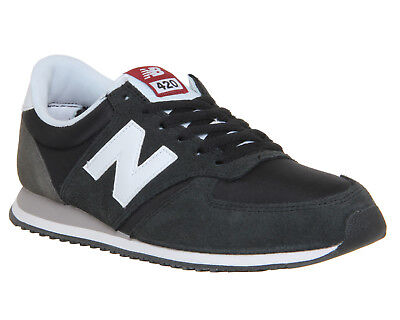 Mens New Balance Black Suede Lace Up Trainers UK Size 8 * Ex Display