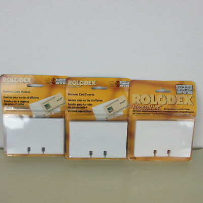 ROLODEX Necessities Refill Cards & Clear Card Protectors 67691 67592 40 Packs X3