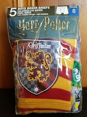 Harry Potter 5-Pack Boys  Boxer Briefs Underwear size 8, new in package