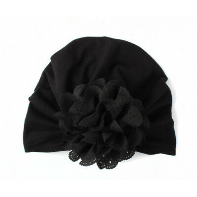 Baby Turban Cap Baby Flower Hat Beautiful Cotton 6 Colors Hollow Flower Outdoor