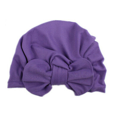 Toddler Beanie Turban Cap Soft 5 Colors Cotton Keep Warm Bowknot Child Care