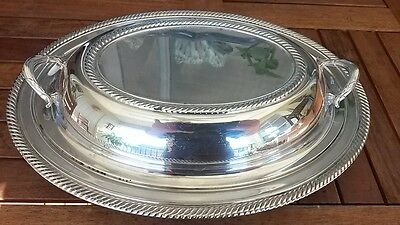 Int,Silver Co. CASTLETON Vtg,Silverplate Serving Dish Tureen W/Cover&Handles