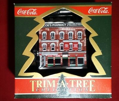 1991 Coca Cola Trim A Tree Collection Jacob's Pharmacy Free Shipping