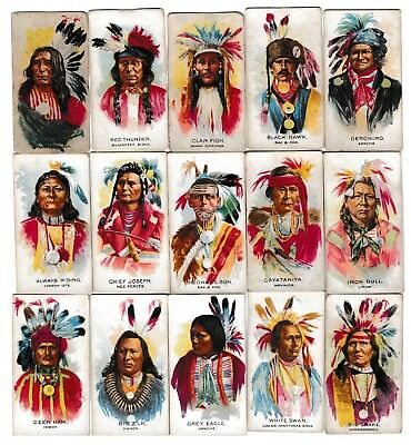 1939 Ganong V118 Big Chiefs Trading Cards Complete Set of 50