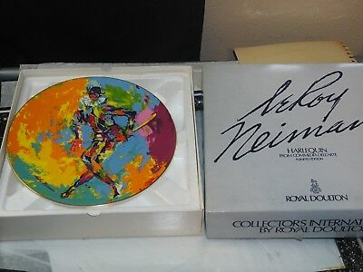 Leroy Neiman HARLEQUIN Limited Edition Collector plate 1974 in Original Box