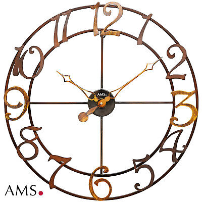 XXL Ams 50 Wall Clock Metal Quartz Watch Living Room Kitchen Office 200