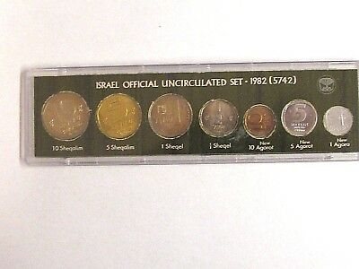 Israel Official Uncirculated Mint Set - 1982 (5742) - First Set w/New Sheqel