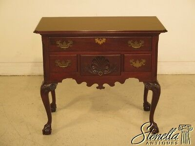 L43136EC: COLONIAL MANUFACTURING CO. Chippendale Ball & Claw Mahogany Lowboy