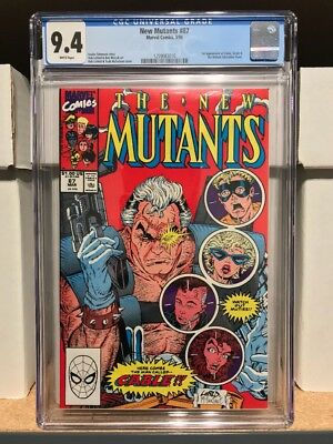 New Mutants 87 Cgc 9.4 - First Cable
