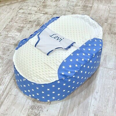Personalised Baby Blue Star Pre Filled Baby Bean Bag