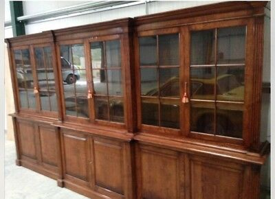 Antique Triple Oak Bookcase
