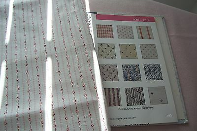 Vtg Antique Victorian Edwardian Red & White Shirting Cotton Dress/Quilt  Fabric