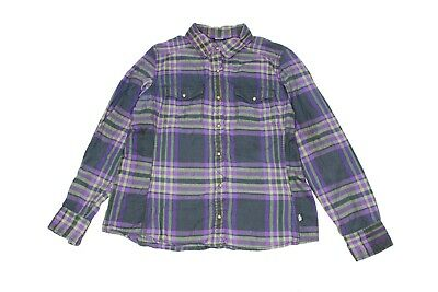 b90f3f270 THE NORTH FACE Womens Plaid Flannel Snap Button Down Shirt - Purple ...